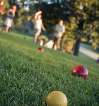 Grass Bocce Ball