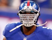 Justin Tuck wearing the Big Grill 2.0